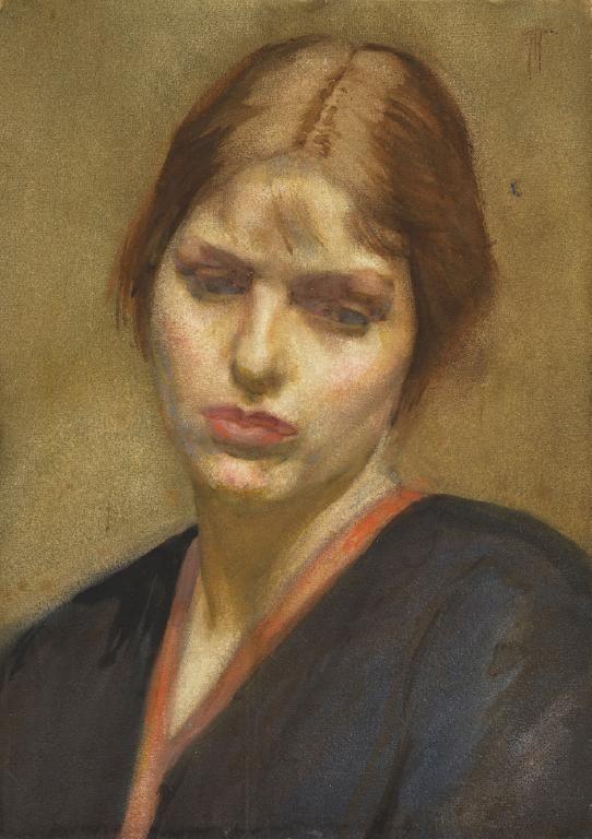 Frances Hodgkins (New Zealand 1869–1947), Portrait of a Girl, watercolor, ca…