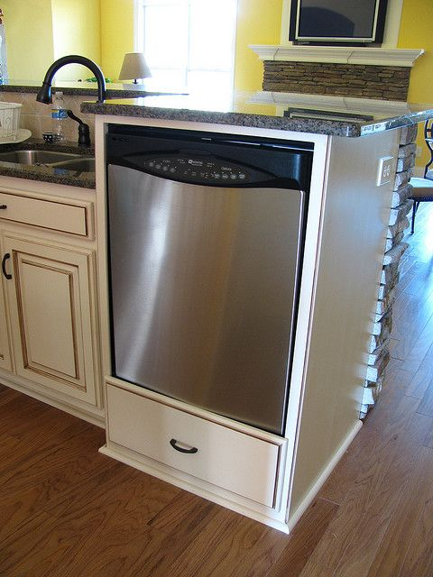 kitchen island w portable dishwasher making a place for a dishwasher ...