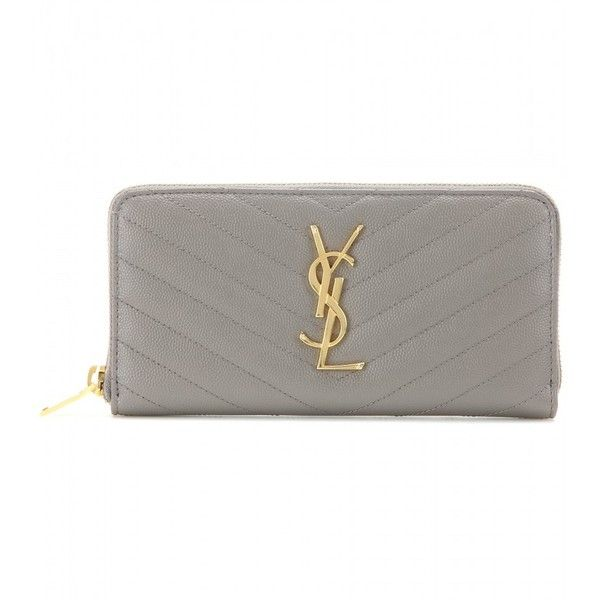 Saint Laurent Leather Wallet (\u20ac550) ? liked on Polyvore featuring ...