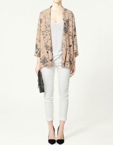Printed kimono £69.99: Summer Dresses, Kimonos Style, Blushes Kimonos, Clothing, Closets, Zara Kimonos, Prints Kimonos, Zara Prints, Kimonos Jackets