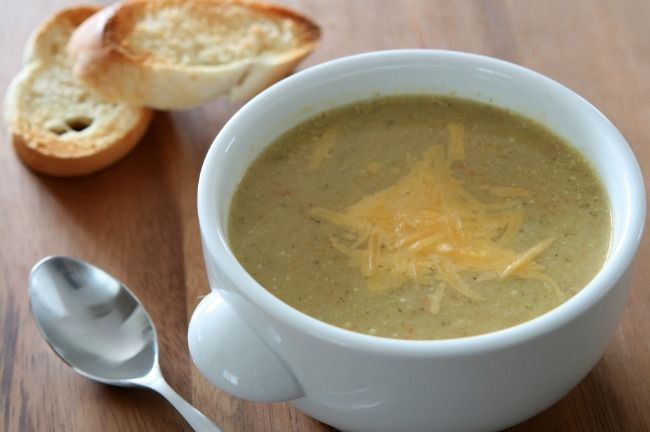 Slow Cooker Broccoli Cheddar Soup - EASY and TASTY!  www.GetCrocked.com