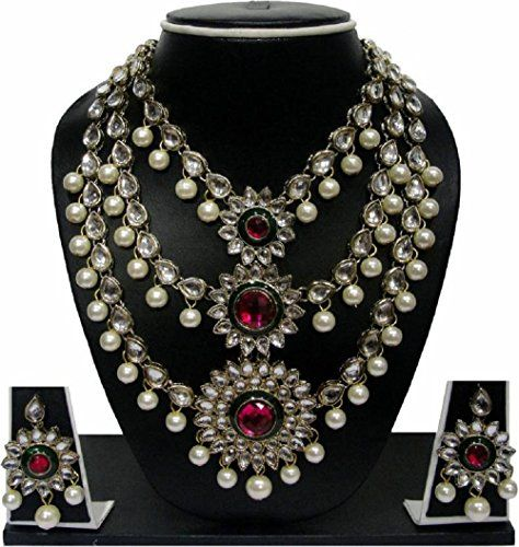 Traditional Indian Bollywood Gold Plated Pink Stone White... https://www.amazon.ca/dp/B01NATBACB/ref=cm_sw_r_pi_dp_x_zwRNybEKTGM7Y