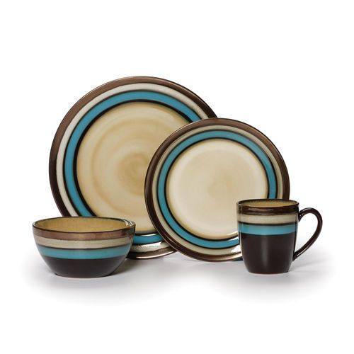 Gourmet Basics by Mikasa® Spector Blue 16 Piece Dinnerware Set  sc 1 st  Pinterest & 12 best Everyday dishes images on Pinterest | Dish sets Casual ...