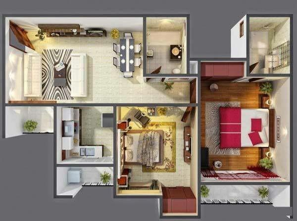 Les 48 meilleures images à propos de projects sur Pinterest Plans - plan maison avec appartement