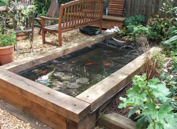 14 best design a raised bed water feature images on. Black Bedroom Furniture Sets. Home Design Ideas