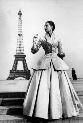 Christian Dior, New Look 1947 SO SIMILAR to the early 1900s. Craziness.