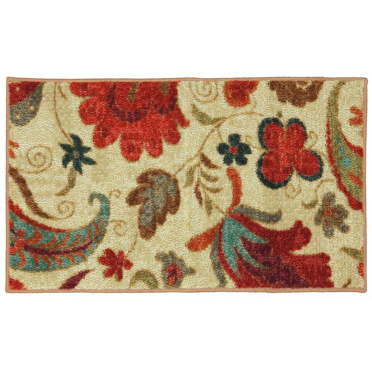 Mohawk Home Tropical Acres Nylon Rug (1'8 x 2'10) (58110 58013 020034), Red