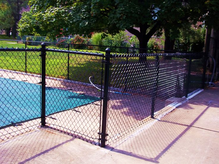 Top rated pool fence for safety black vinyl chain link