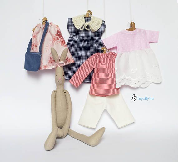 Bunny doll clothing set for 18 rabbit  Dress up doll