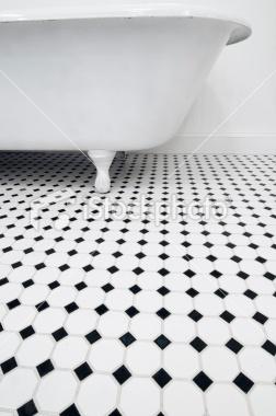 Retro Bathroom, floor- master bath