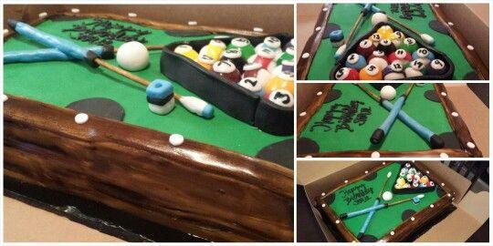 Pool table/billiards fondat cake