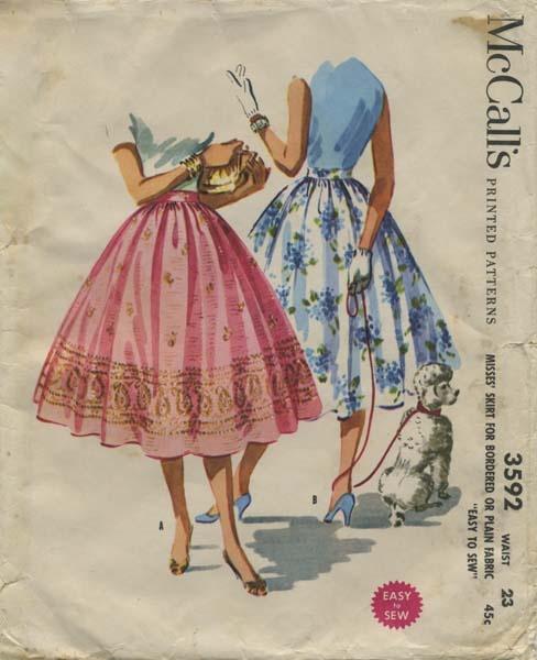 Vintage Circle Skirt Sewing Pattern