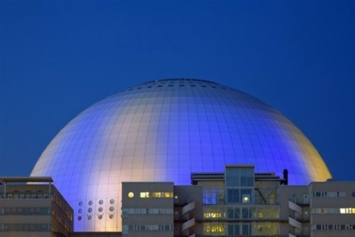 The #Ericsson Globe is the largest spherical structure in the world and was completed in 1989. It has since then become a symbol for #Stockholm. It can house up to 16,000 people during a concert or sports event. #VisitSweden Photo by Wes #PinStockholm
