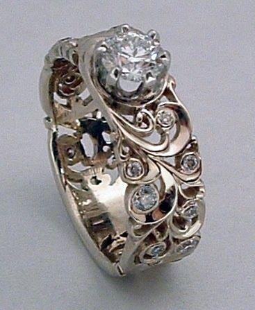Dmitriy Pavlov: Vintage Engagement Rings, Pretty Rings, Beautiful Rings, Dreams Wedding, Wedding Band, Infinity Rings, Wedding Rings, Dmitriy Pavlov, White Gold