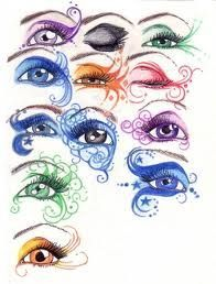 eye art inspiration. maybe for a fairy eye look? @Sheila Oldham (just some ideas maybe? Check my other pins on this board ^.^)