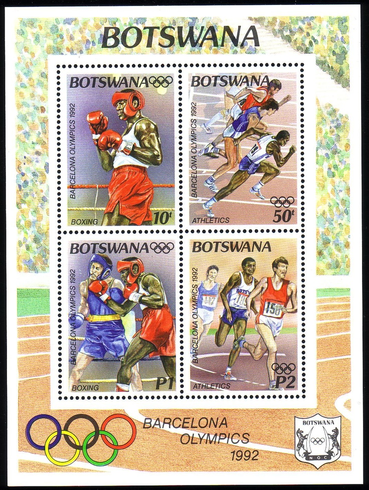 Stamps from Botswana | Barcelona 1992, Olympic Games