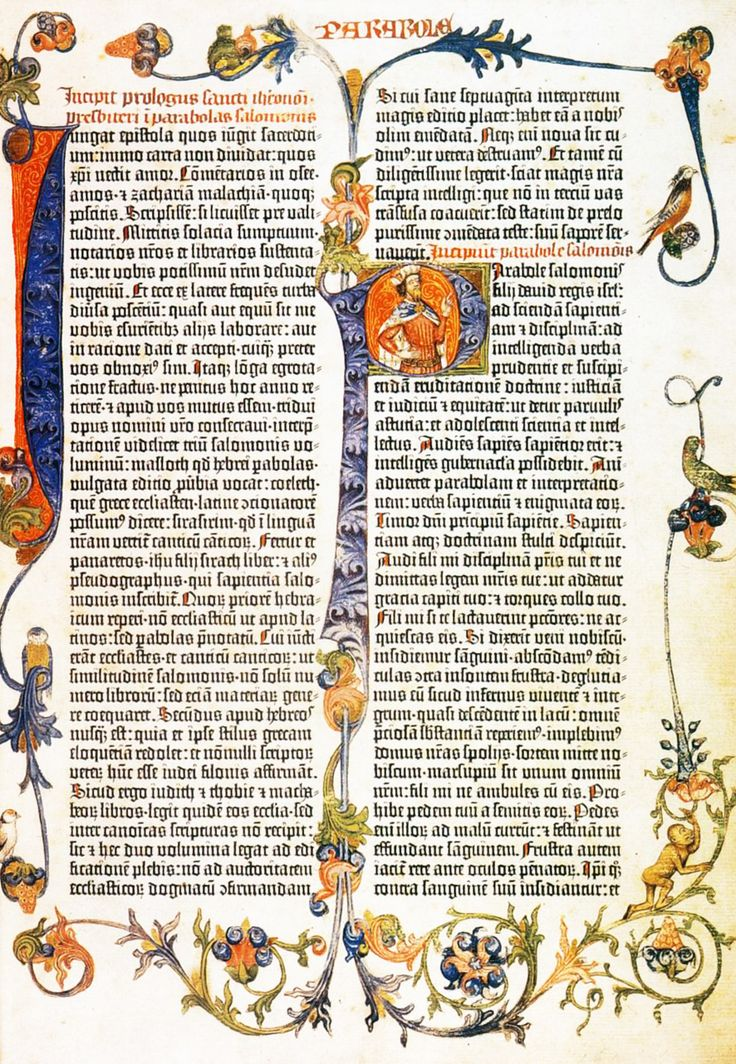 MINIATURIST, German. Gutenberg Bible 1455. Incunable (C.9.d.4).
