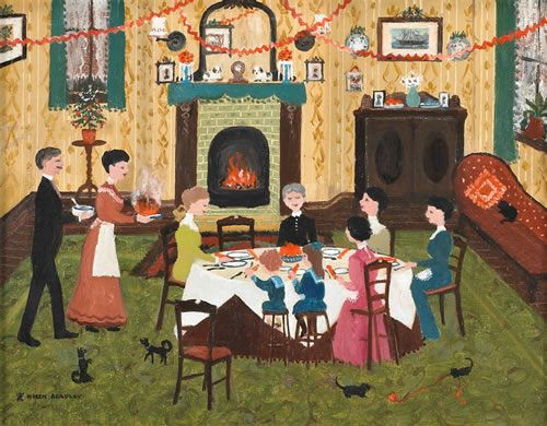 "Artist: Helen Bradley ""Christmas Pudding"""