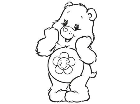 Care Bears Printable Belly Badge Rock Activity Page Cb