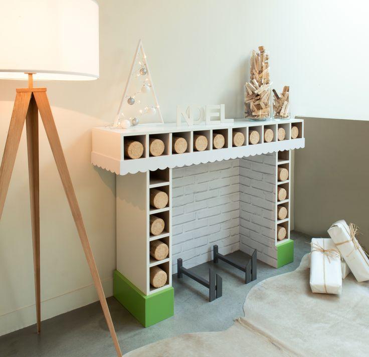 DIY : Créer une fausse cheminée pour Noël #leroymerlin #diy #tuto #ideedeco #madecoamoi #merrychrismas #noel