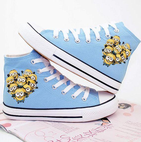 Serventi converse scarpe dipinte a mano cartoon scarpe di binghai