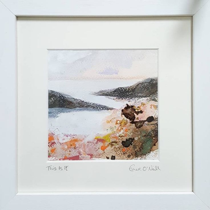 'This Is It' is an acrylic & mixed media Irish Seascape with touches of 24ct gold leaf. Painted on 5x5* 300gsm cold pressed watercolour paper, which has been mounted in a 8x8* handnade frame. *approx measurements. €65 P&P I use my contemporary art to connect my sea loving customers