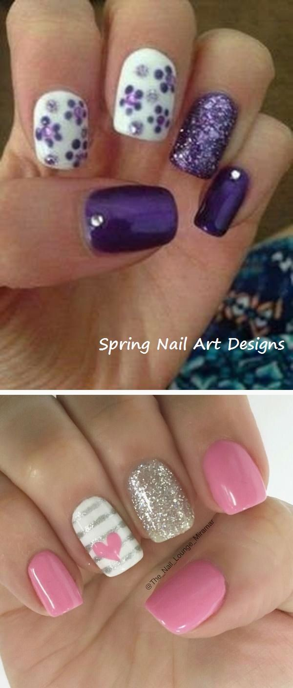 20 Spring Nail Art Ideas 1 With Images Simple Spring Nails