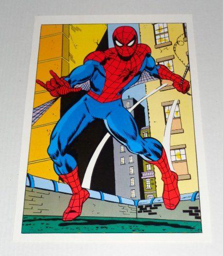 1970's Amazing Spider-man poster pin-up with art by John Romita Sr: Vintage original 1978 Marvel Comics Amazing Spiderman comic book pinup 1
