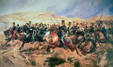 Into the Valley of Death: Battle of Balaclava: The Charge of the Light Brigade by Richard Caton Woodville