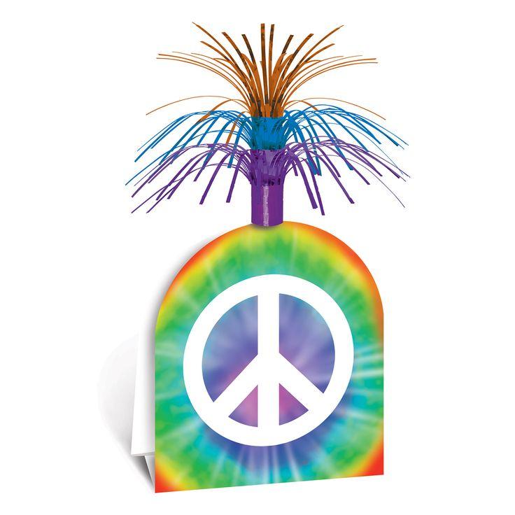 Centrotavola con simbolo della pace 38 cm su VegaooParty, negozio di articoli per feste. Scopri il maggior catalogo di addobbi e decorazioni per feste del web,  sempre al miglior prezzo!