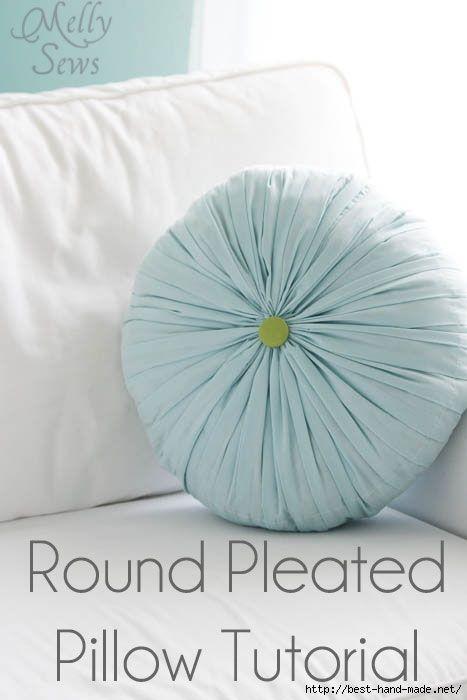 Round Pleated Pillos Tutorial