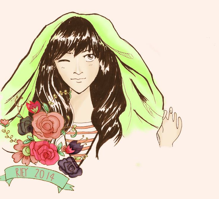 sleepy and bored at office.. :( drawing is my sleepy medicine.. #illustration #girl #flower #drawing