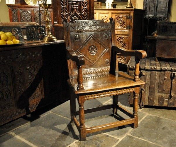 A Late 16th Early 17th Century Oak Wainscot Armchair
