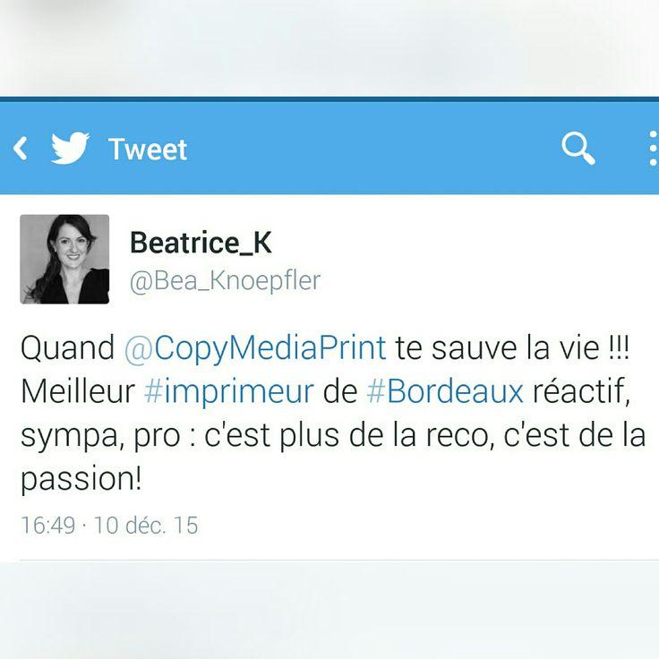 Merci #Beatrice_K #Imprimeur #Bordeaux
