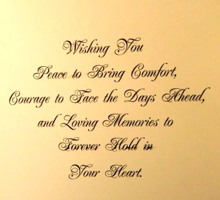sympathy verse......