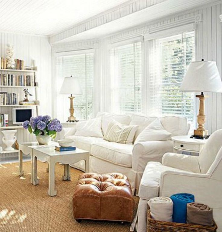 30 best Cottage Style Living Rooms images on Pinterest Cottage - all white living room