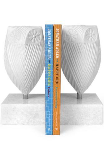 Adler: Ceramics Owl, Home Accessories, Holidays Gifts, Adler Owl, Bookends Sets, Modern Home, Jonathan Adler, White Owl, Owl Bookends