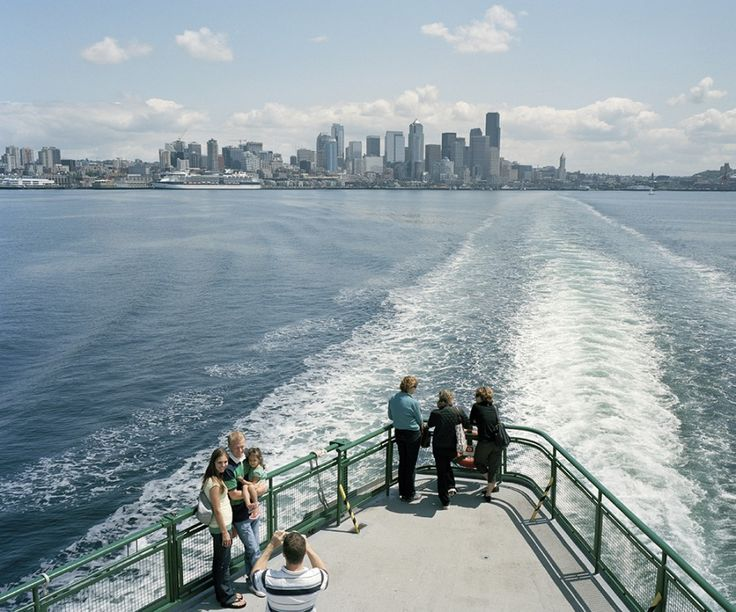 Seattle, WA USA. Leaving on the Seattle to Bremerton State Ferry.