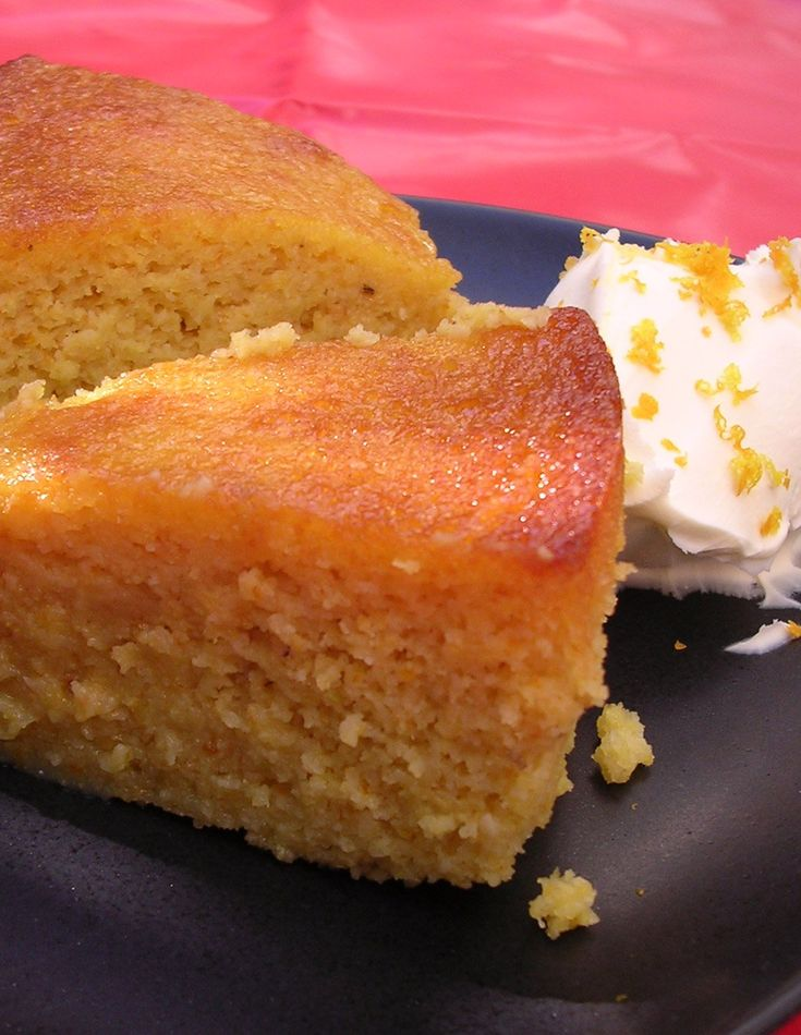 This is incredibly easy to make; even if you're stressed out, it won't topple you over into nervous collapse. It's such an accommodating kind of cake: it keeps well, indeed it gets better after a few days, and it is perfect either as a pudding, with some creme fraiche, or as cake. It is a wonderfully damp, dense and aromatic flourless cake: it tastes like one of those sponges you drench, while cooling, with syrup, only you don't have to. This is the easiest cake I know.