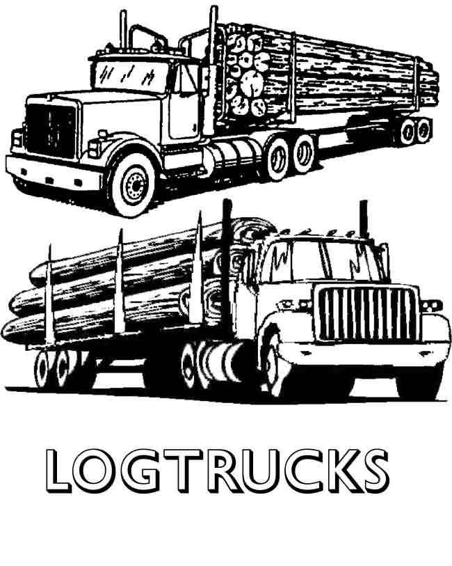 Log Truck Clipart Clipart Kid Log Truck Clipart Kid Logging Coloring Pag On Truck Coloring Pages Truck Coloring Pages Tractor Coloring Pages Trucks