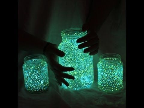 Make a Halloween Fairy Garden (Would love to have this glow splatter all over the ground - if not eco friendly - use for starfish)