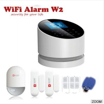 Attractive Kerui Wireless W2 WIFI Alarm System PSTN GSM Home Alarm System Security  Burglar Alarm System Auto