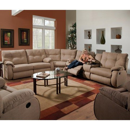 Belfort Motion Jordan 3 Piece Reclining Sectional Sofa With Console Storage