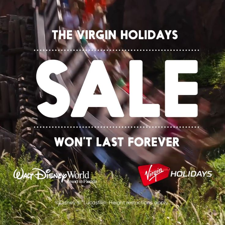 Experience the magic of Walt Disney World. Hurry though, The Virgin Holidays Sale won't last forever.