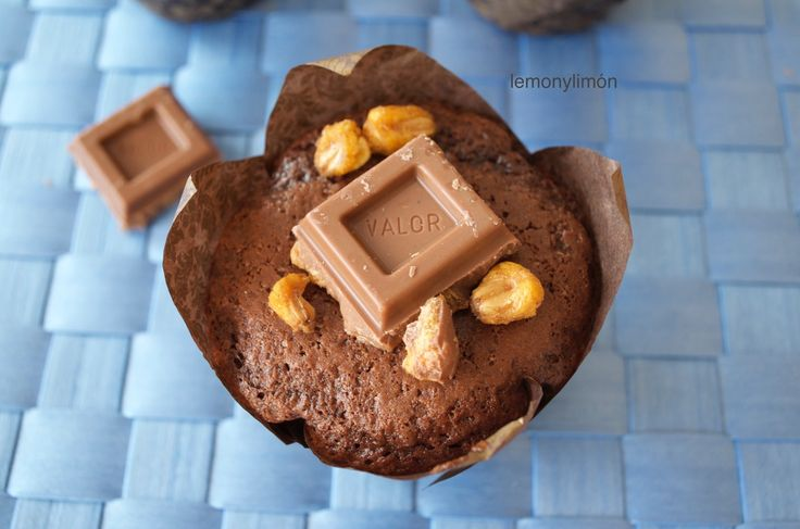 Muffins de chocolate Valor con kikos