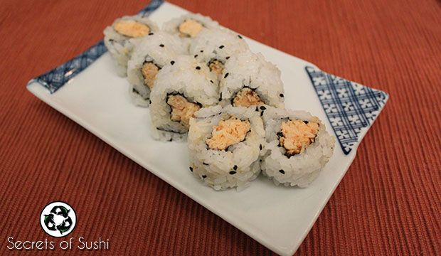 The Spicy Crab sushi roll is a great recipe for people starting to learn how to roll at home. It's simple to make, slightly spicy, and very satisfying.
