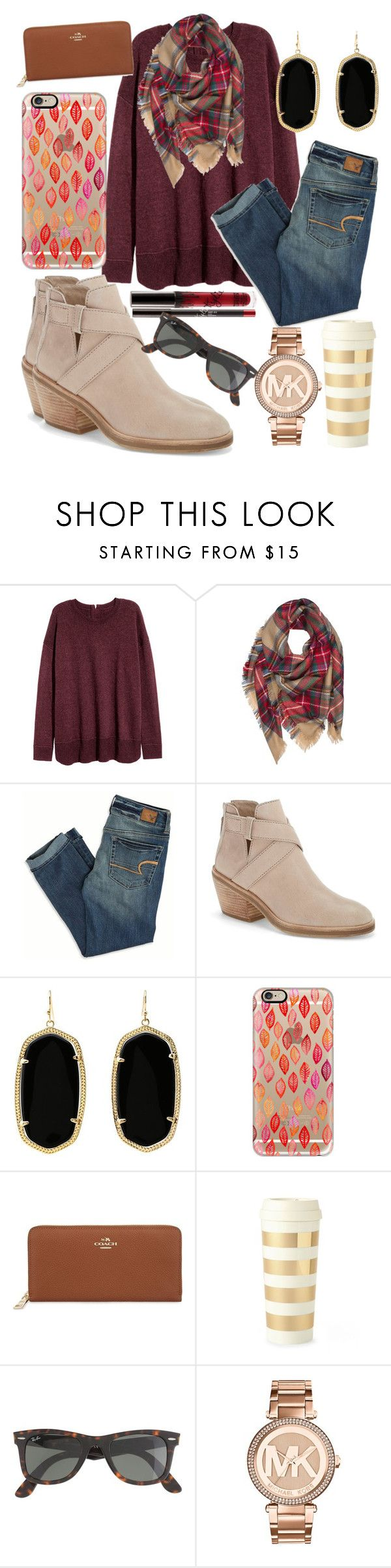 """""""Fall """" by jadenriley21 ❤ liked on Polyvore featuring American Eagle Outfitters, Eileen Fisher, Kendra Scott, Casetify, Coach, Kate Spade, J.Crew and MICHAEL Michael Kors"""