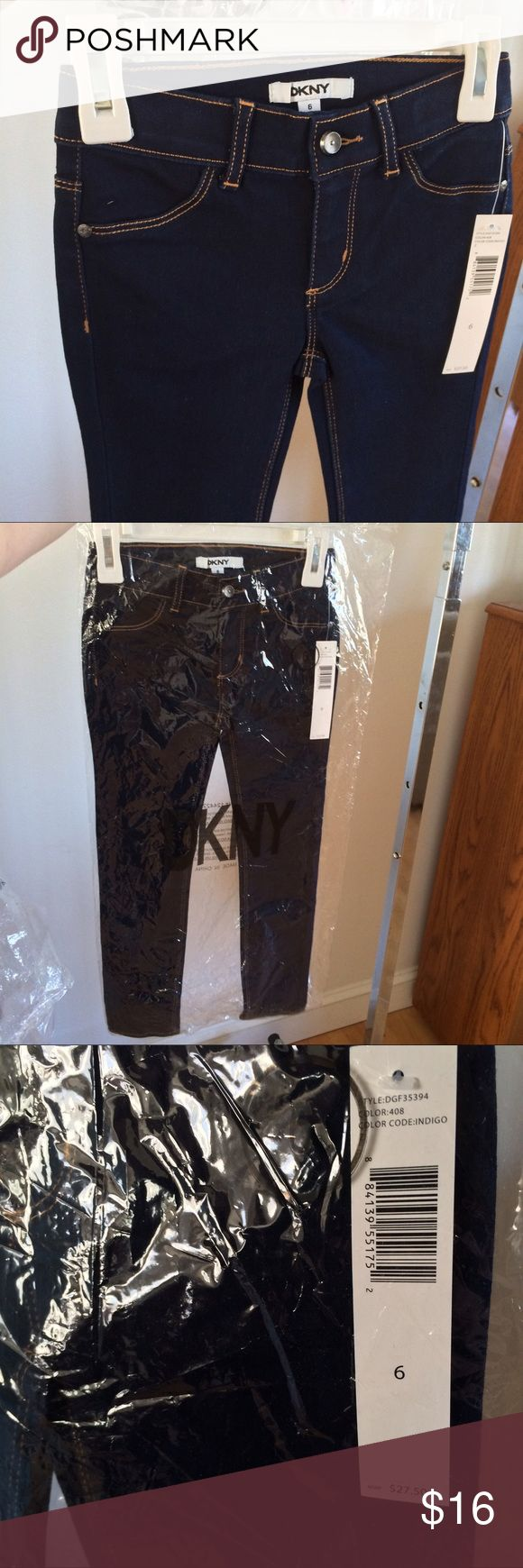 DKNY Girls Skinny Jeans, Size 6 DKNY Girls Skinny Jeans, Size 6. Boutique items are direct from manufacturer, meaning they are being sold retail for the first time here. Please bundle for an additional 10% off MSRP! DKNY Bottoms Jeans
