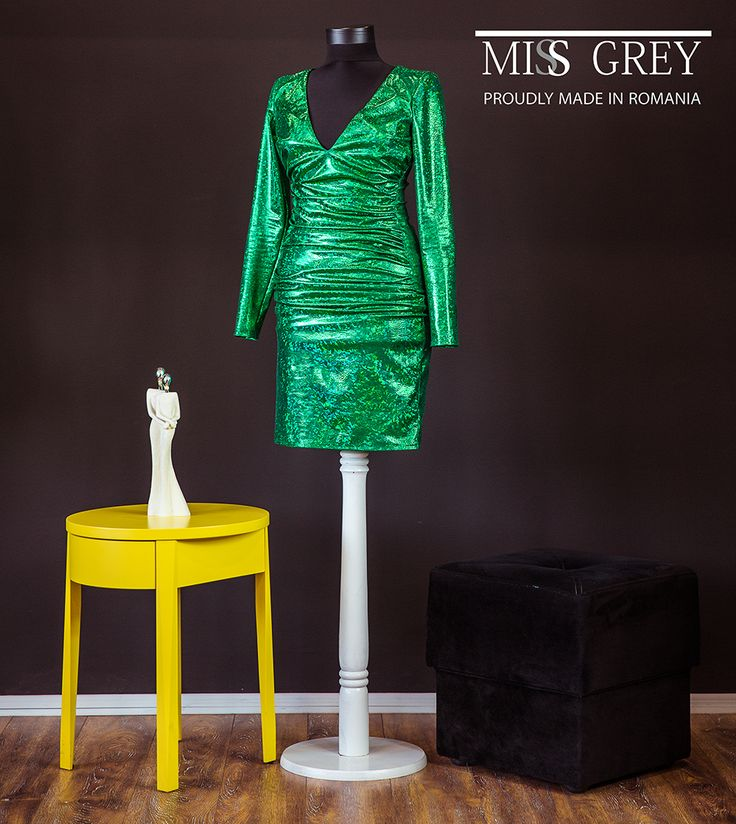 Look perfect in a beautiful evening dress with shining effects.