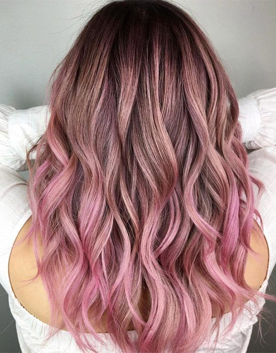 Gorgeous Dark Roots Of Pink Hair Color For 2019 Stylesmod Hair Color Pink Pink Hair Highlights Pink Hair